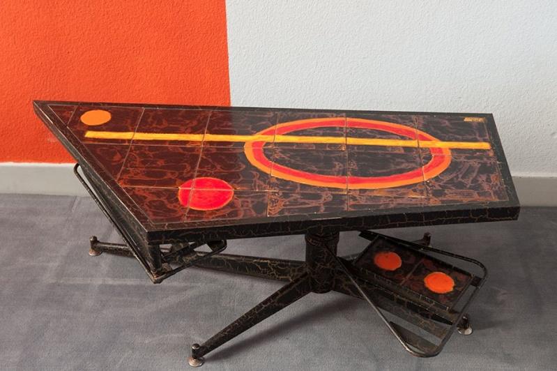 table basse m tal. Black Bedroom Furniture Sets. Home Design Ideas