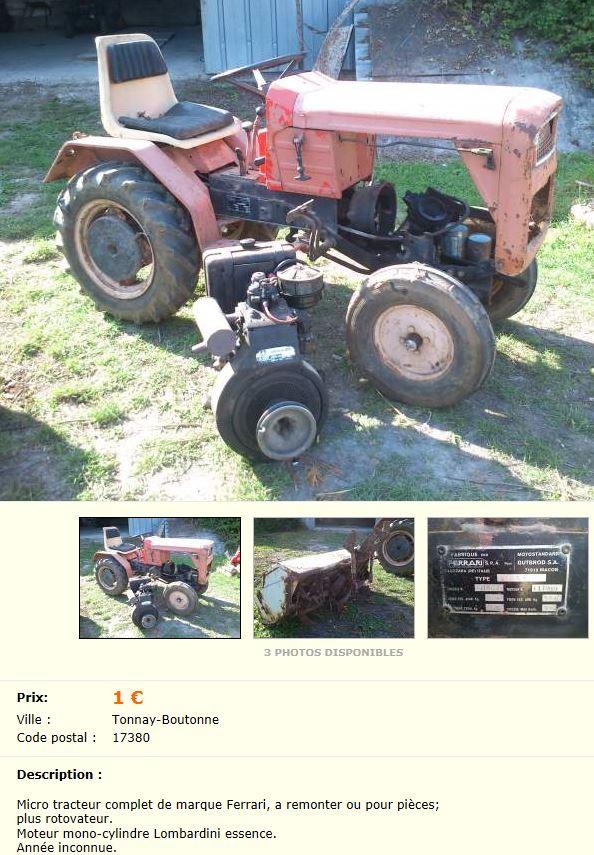 micro tracteur motostandard 1400 sur le bon coin. Black Bedroom Furniture Sets. Home Design Ideas