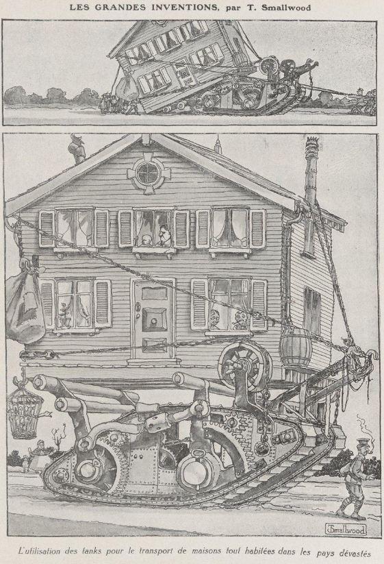 les inventions comment d placer une maison en 1919. Black Bedroom Furniture Sets. Home Design Ideas