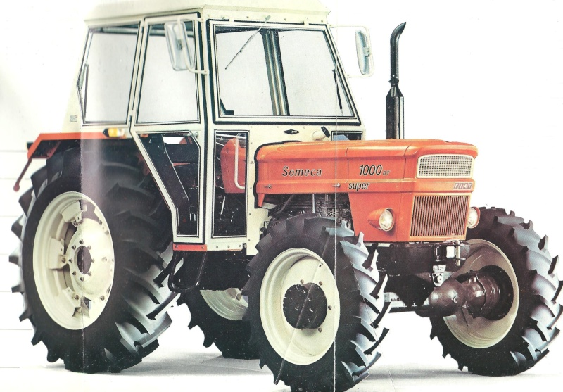 Tracteur agricole someca 1000 super dt