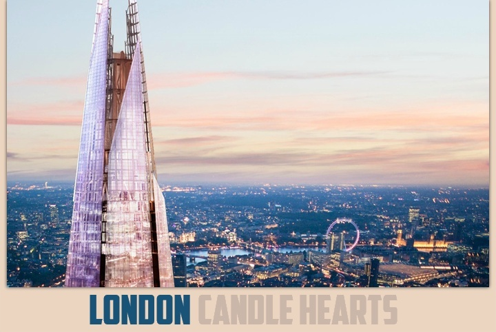 LONDON CANDLE HEARTS ♛