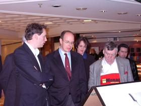 Frédéric Lecomte-Dieu, le Prince Albert de Monaco et Pierre Salinger (01.02.2001)