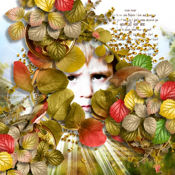 falling in autumn kit simplette page cocotounette