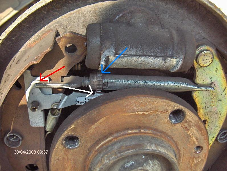 Reglage frein a main 306