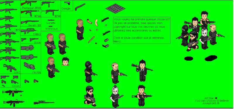 armes de josephsk8 pour pixel