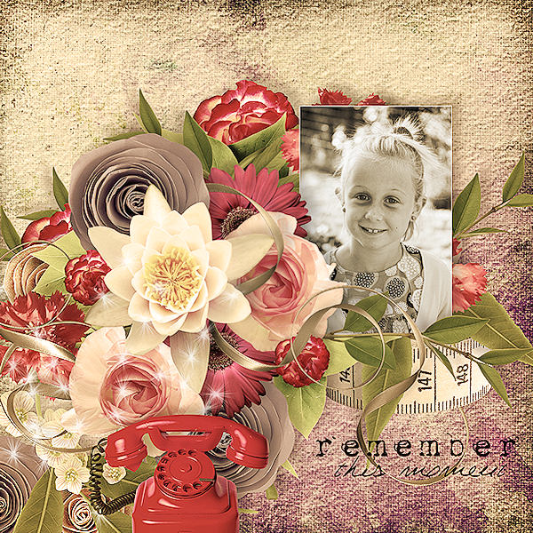some years ago simplette scrap design vintage page audrey