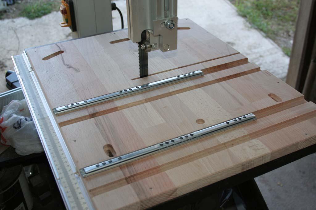 R alisation chariot de coupe pour scie ruban - Fabriquer table scie circulaire ...