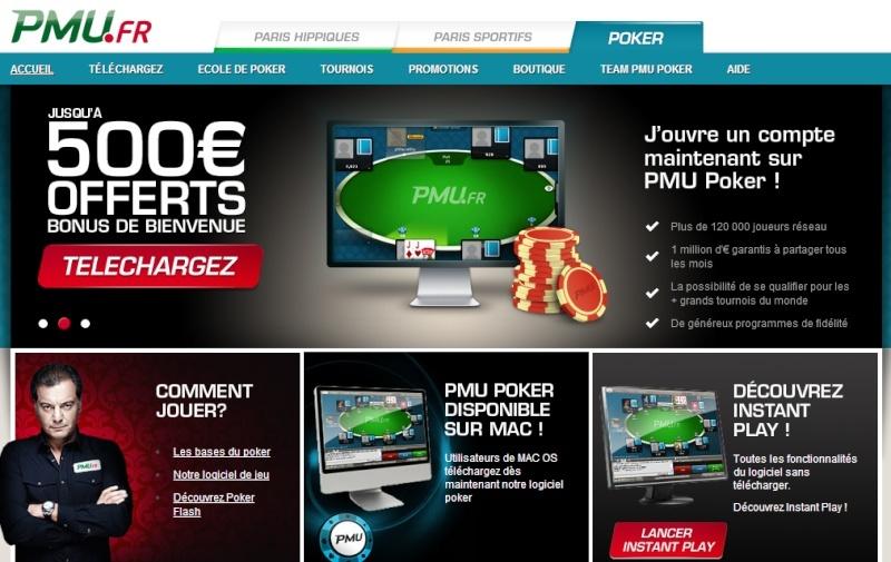 Ouvrez un compte sur PMU Poker