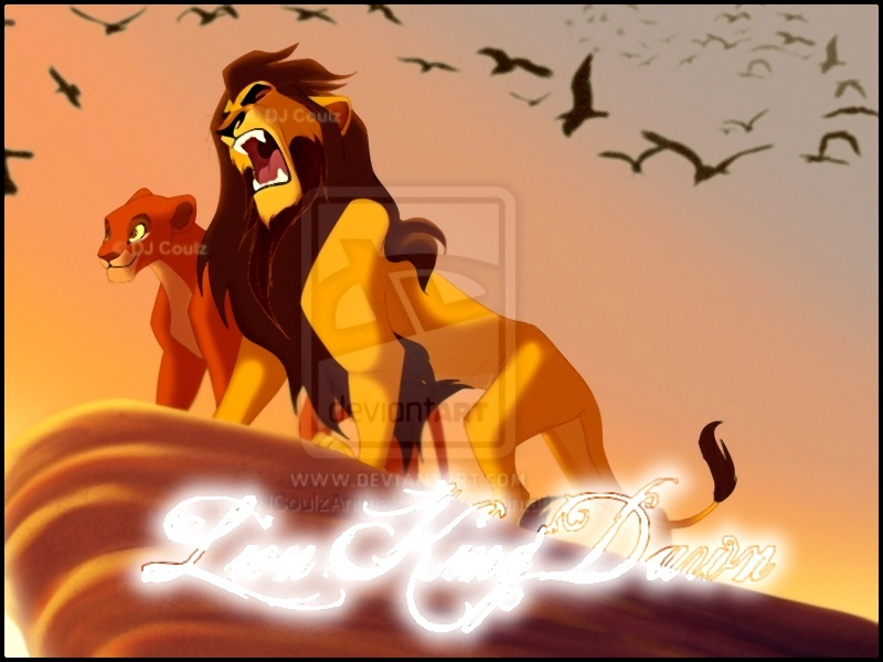 The lion king dawn