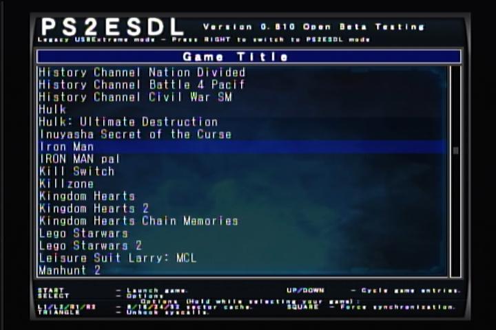 برنامج جديد لتشغيل العاب بلاى ستيشن 2 من الـ Usb منتدى