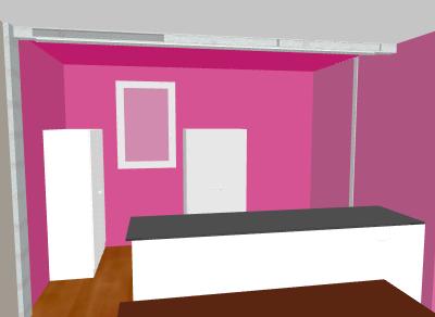 cuisine peinte en rouge au lieu du colombo pr vu que faire pour la salle dernieres photos. Black Bedroom Furniture Sets. Home Design Ideas